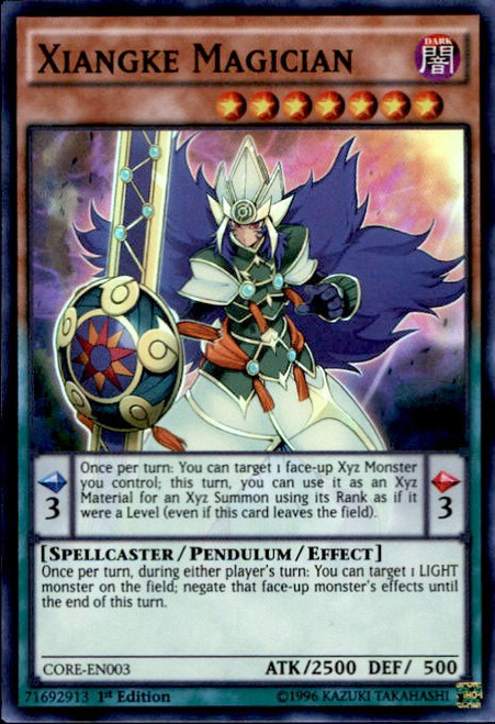 YuGiOh Clash of Rebellions Super Rare Xiangke Magician CORE-EN003