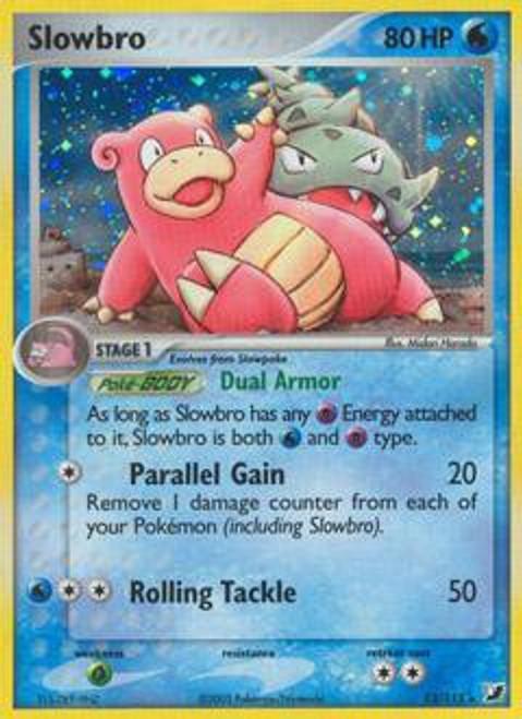 Pokemon EX Unseen Forces Rare Holo Slowbro #13