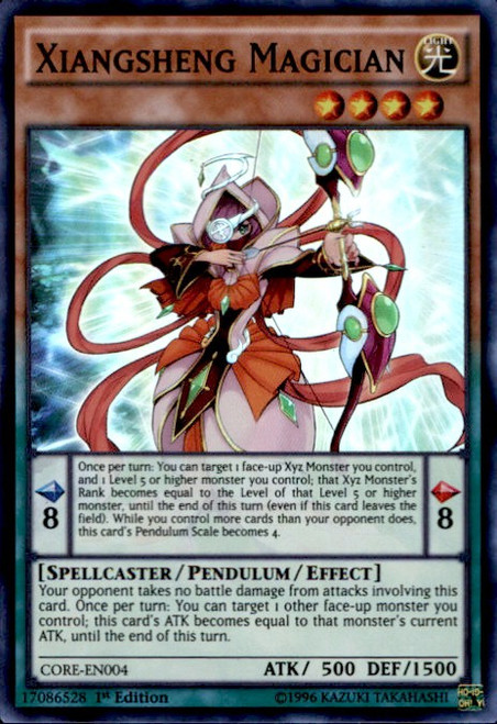 YuGiOh Clash of Rebellions Super Rare Xiangsheng Magician CORE-EN004