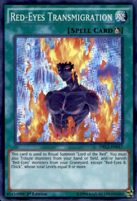 YuGiOh Dragons of Legend 2 Super Rare Red-Eyes Transmigration DRL2-EN017