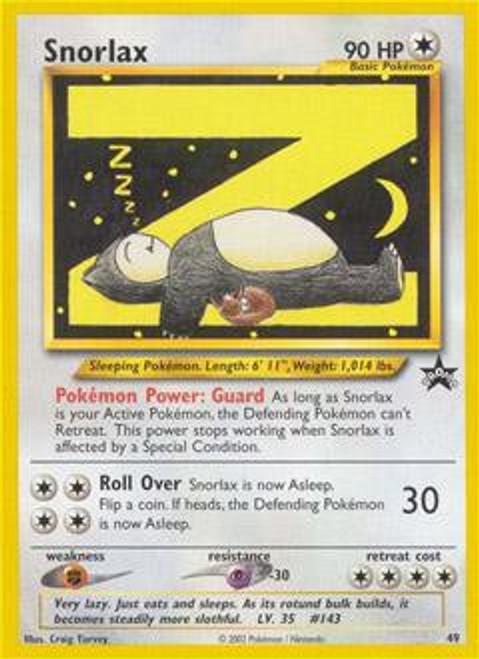 Pokemon Promo Cards WotC Promo Snorlax #49