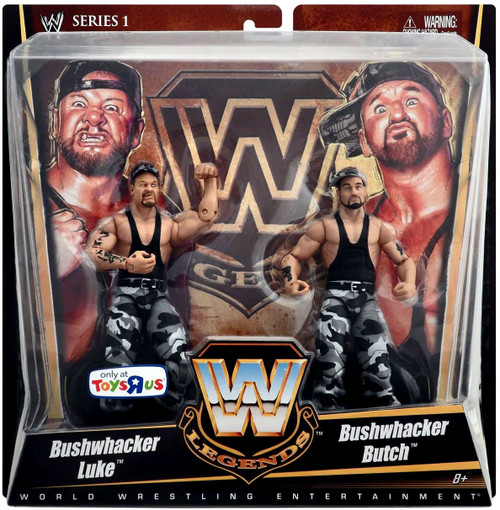 WWE Wrestling Battle Pack Legends Series 1 Bushwhacker Luke & Bushwhacker Butch Exclusive Action Figure 2-Pack