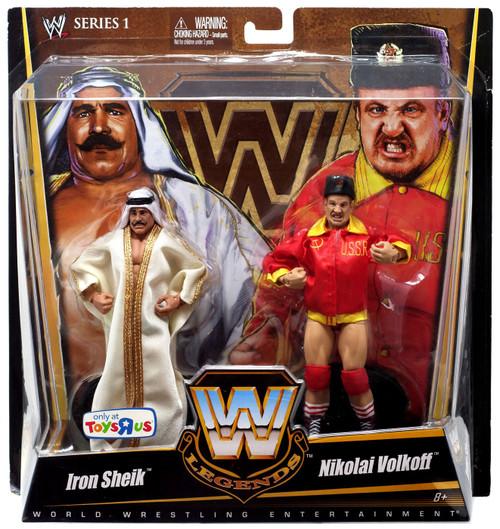 WWE Wrestling Battle Pack Legends Series 1 Iron Sheik & Nikolai Volkoff Exclusive Action Figure 2-Pack