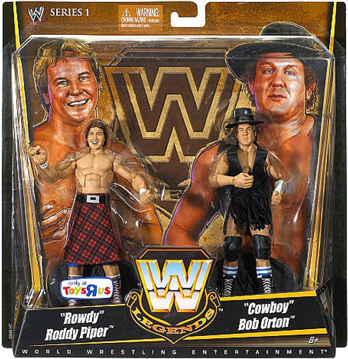 WWE Wrestling Battle Pack Legends Series 1 Rowdy Roddy Piper & Cowboy Bob Orton Exclusive Action Figure 2-Pack