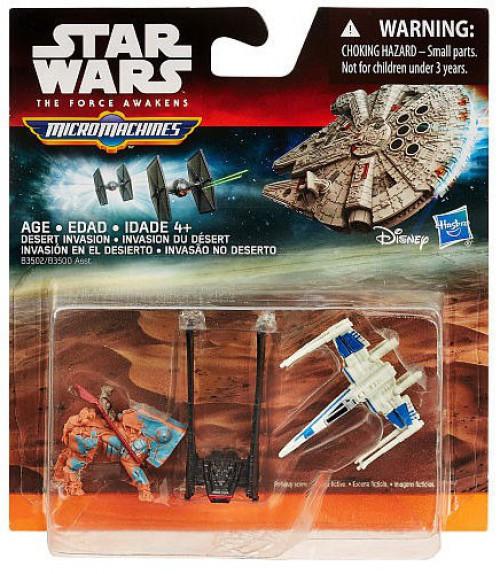 Star Wars The Force Awakens Micro Machines Desert Invasion Vehicle 3-Pack