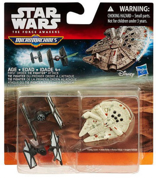 Star Wars The Force Awakens Micro Machines Tie Fighter Attack Vehicle 3-Pack