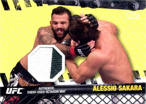 Topps UFC 2010 Championship Fight Mat Relic Alessio Sakara FM-AS [White & Black]