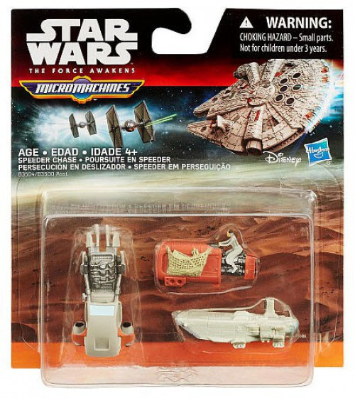 Star Wars The Force Awakens Micro Machines Speeder Chase Vehicle 3-Pack