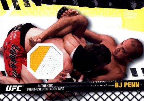 Topps UFC 2010 Championship Fight Mat Relic BJ Penn FM-BP
