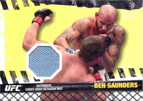 Topps UFC 2010 Championship Fight Mat Relic Ben Saunders FM-BS