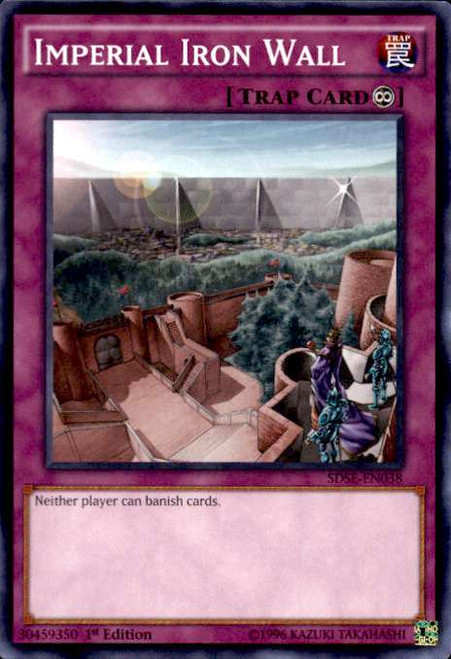 YuGiOh Synchron Extreme Structure Deck Common Imperial Iron Wall SDSE-EN038