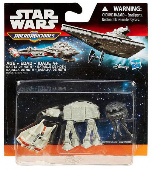 Star Wars The Force Awakens Micro Machines Battle of Hoth Vehicle 3-Pack