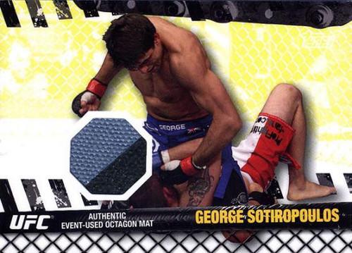 Topps UFC 2010 Championship Fight Mat Relic George Sotiropolous FM-GS