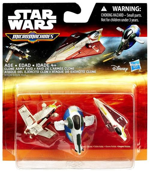Star Wars The Force Awakens Micro Machines Clone Army Raid Vehicle 3-Pack