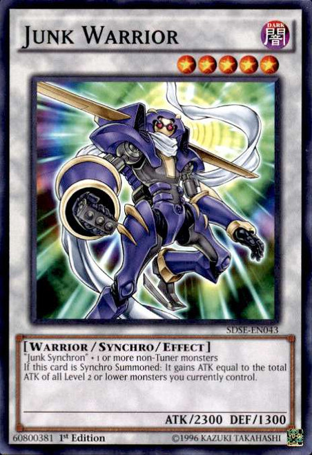 YuGiOh Synchron Extreme Structure Deck Common Junk Warrior SDSE-EN043