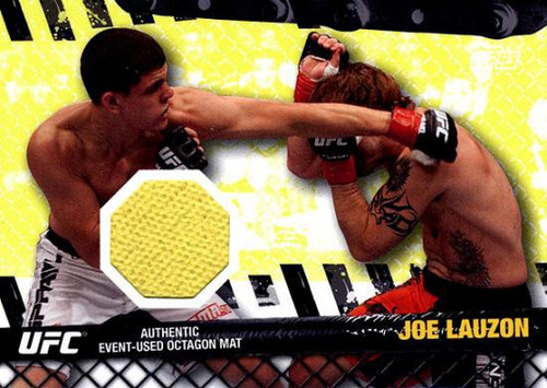Topps UFC 2010 Championship Fight Mat Relic Joe Lauzon FM-JL [Yellow]