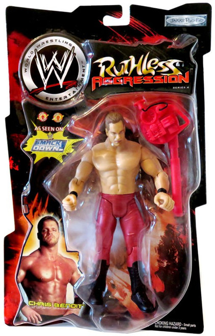 WWE Wrestling Ruthless Aggression Series 4 Chris Benoit Action Figure