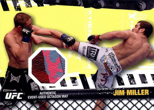 Topps UFC 2010 Championship Fight Mat Relic Jim Miller FM-JM
