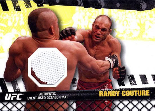 Topps UFC 2010 Championship Fight Mat Relic Randy Couture FM-RC [White & Red]