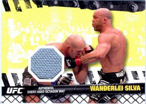 Topps UFC 2010 Championship Fight Mat Relic Wanderlei Silva FM-WS