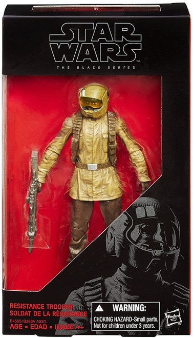 Star Wars The Force Awakens Black Series Resistance Trooper Action Figure