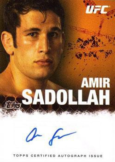 Topps UFC 2010 Championship Autograph Fighters & Personalities Amir Sadollah FA-ASA