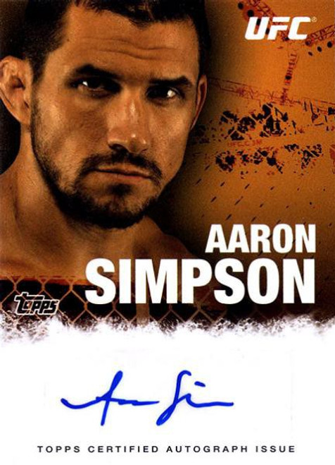 Topps UFC 2010 Championship Autograph Fighters & Personalities Aaron Simpson FA-ASI