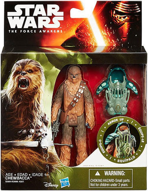 Star Wars The Force Awakens Mission Armor Chewbacca Action Figures [Forest Mission Armor]