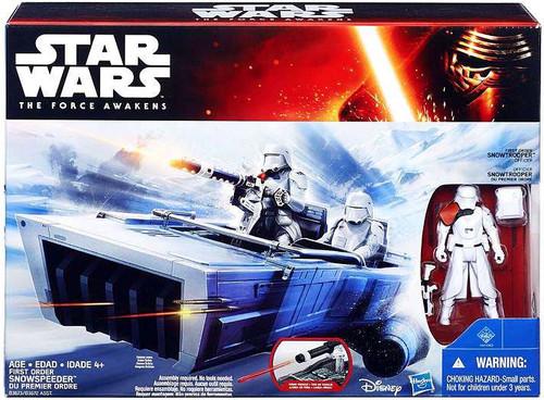Star Wars The Force Awakens First Order Snowspeeder & Snowtrooper 3.75-Inch Vehicle [Class II ]