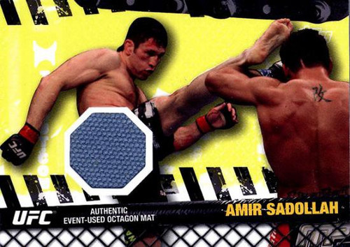 Topps UFC 2010 Championship Fight Mat Relic Amir Sadollah FM-ASA