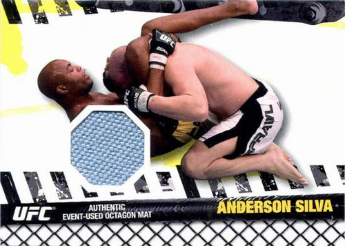 Topps UFC 2010 Championship Fight Mat Relic Anderson Silva FM-ASI