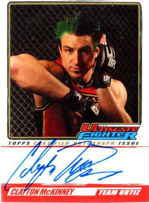 Topps UFC 2010 Championship The Ultimate Fighter Autograph Clayton McKinney TUF-CM