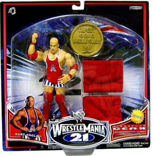 WWE Wrestling WrestleMania 21 Series 2 Kurt Angle Exclusive Action Figure