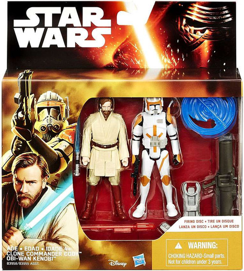 Star Wars Revenge of the Sith Obi Wan Kenobi & Clone Commander Cody Action Figure 2-Pack
