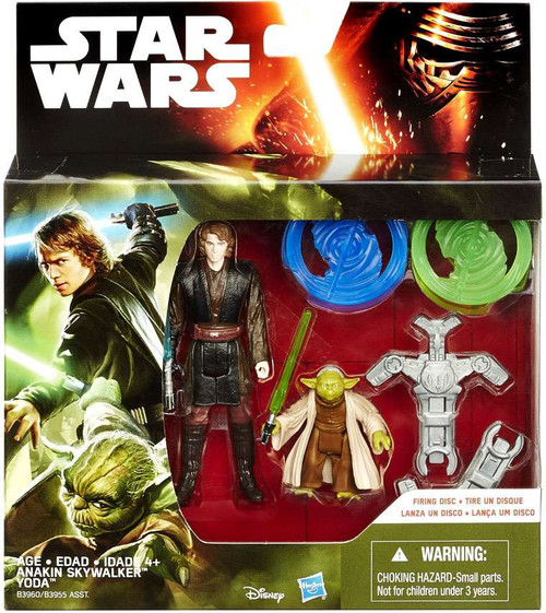 Star Wars Revenge of the Sith Anakin Skywalker & Yoda Action Figure 2-Pack