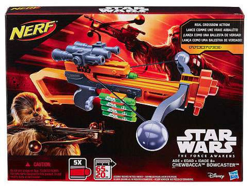 Star Wars The Force Awakens NERF Chewbacca's Bowcaster Roleplay Toy