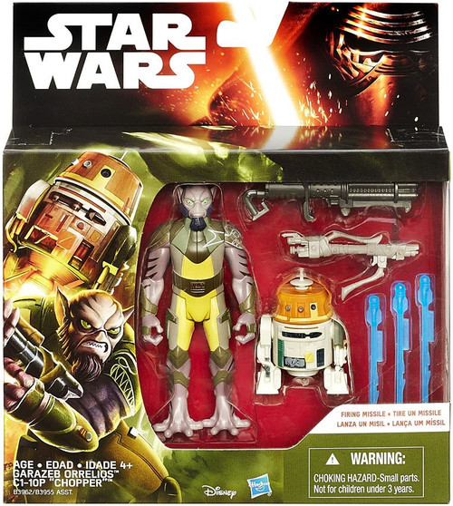Star Wars Rebels Garazeb Orrelios & C1-10P Chopper Action Figure 2-Pack