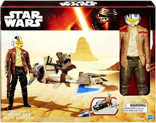 Star Wars The Force Awakens Speeder Bike & Poe Dameron 12-Inch Vehicle & Figure