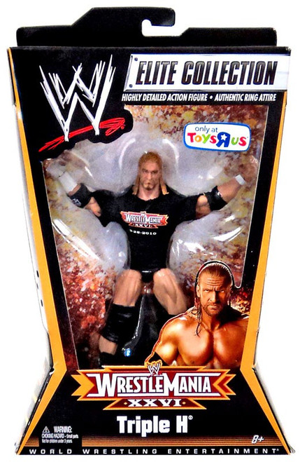 WWE Wrestling Elite Collection WrestleMania 26 Triple H Action Figure