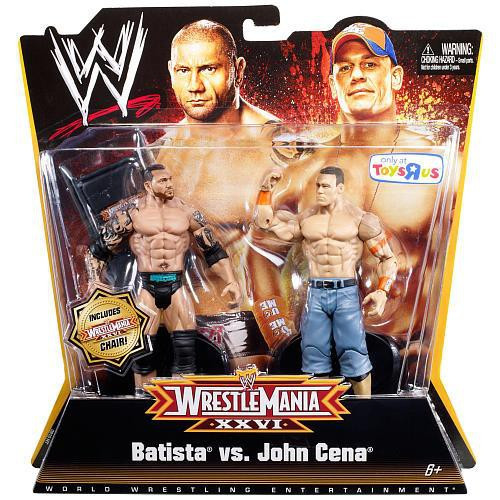 WWE Wrestling Battle Pack WrestleMania 26 Batista vs. John Cena Exclusive Action Figure 2-Pack