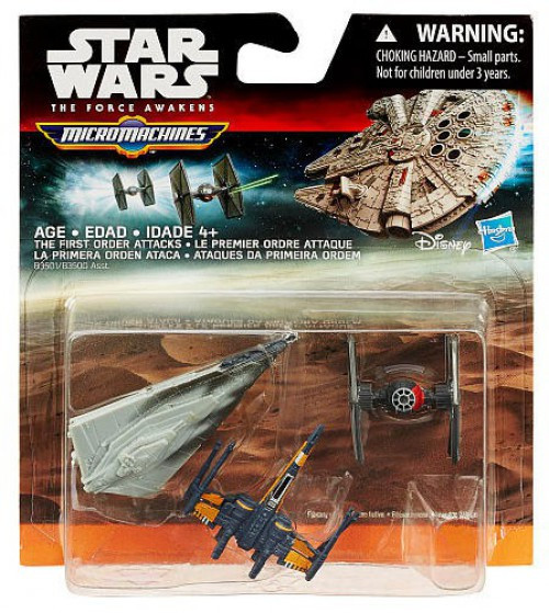 Star Wars The Force Awakens Micro Machines The First Order Attacks Vehicle 3-Pack