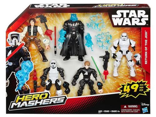 Star Wars Return of The Jedi Hero Mashers Darth Vader, Luke Skywalker, Han Solo, Scout Trooper & Wicket Action Figure 5-Pack