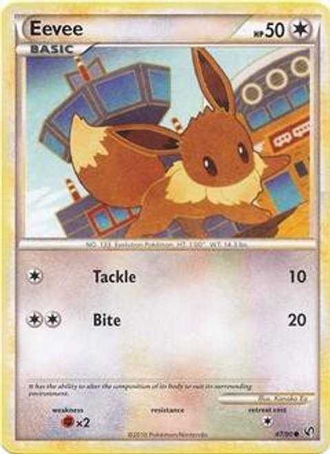 Pokemon HeartGold & Soulsilver Undaunted Common Eevee #47