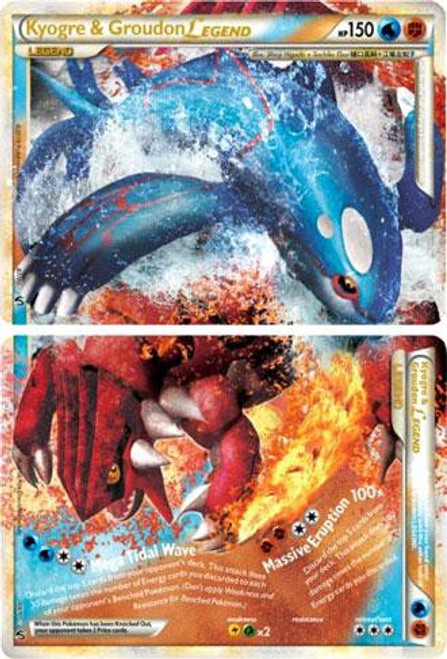 Pokemon HeartGold & Soulsilver Undaunted Ultra Rare Kyogre & Groudon LEGEND #87 & 88