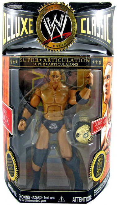 WWE Wrestling Deluxe Classic Superstars Series 1 The Rock Action Figure
