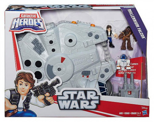 Star Wars The Force Awakens Galactic Heroes Millennium Falcon Vehicle [Han & Chewie]