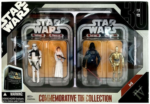 Star Wars A New Hope Commemorative Tin Collection Sandtrooper, Princess Leia, Darth Vader & C-3PO Exclusive Action Figure 4-Pack #4 of 6