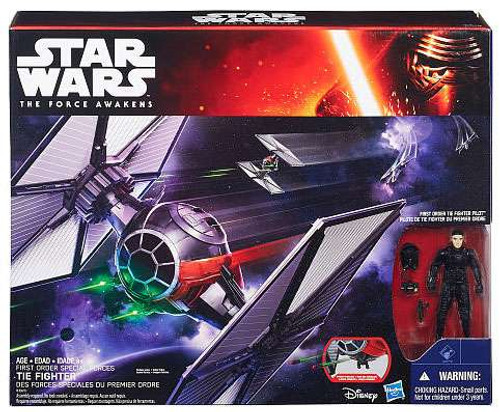 Star Wars The Force Awakens First Order Special Forces TIE Fighter 3.75-Inch Vehicle [Includes Pilot]