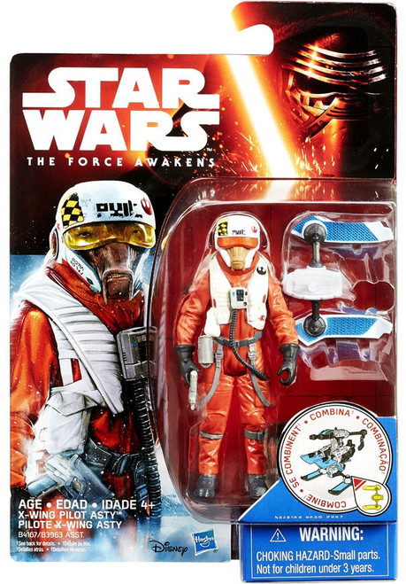 Star Wars The Force Awakens Snow & Desert X-Wing Pilot Asty Action Figure [Snow Mission]