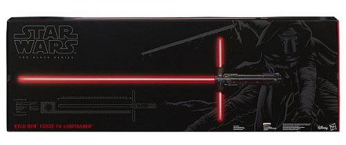 Star Wars The Force Awakens Black Series Kylo Ren Deluxe Force FX Lightsaber Roleplay Toy